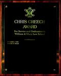 Chris Creech Award