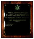 John G. Kruchko Award in Labor & Employment Law